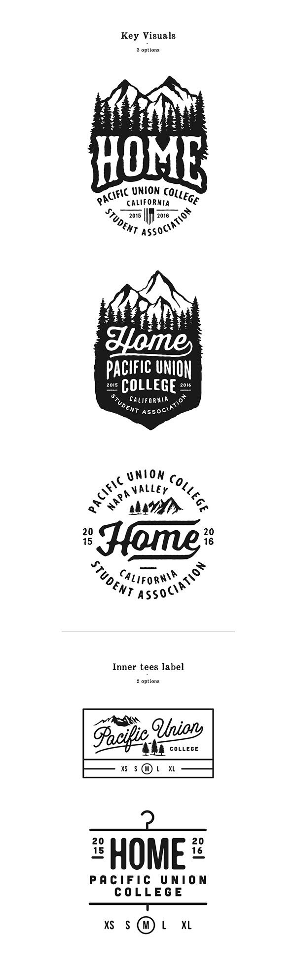 HOME - Pacific Union College,Napa Valley, California. on Typography Served