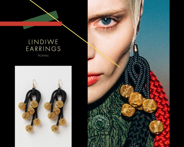 Lindiwe Earrings, Buy online: www.pichulik.com/shop