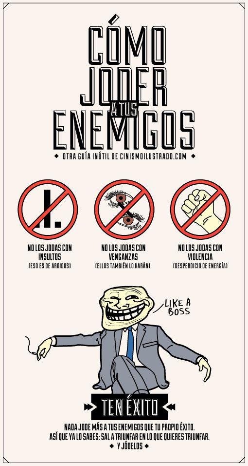 Cómo joder a tus enemigos #infografia #infographic #humor