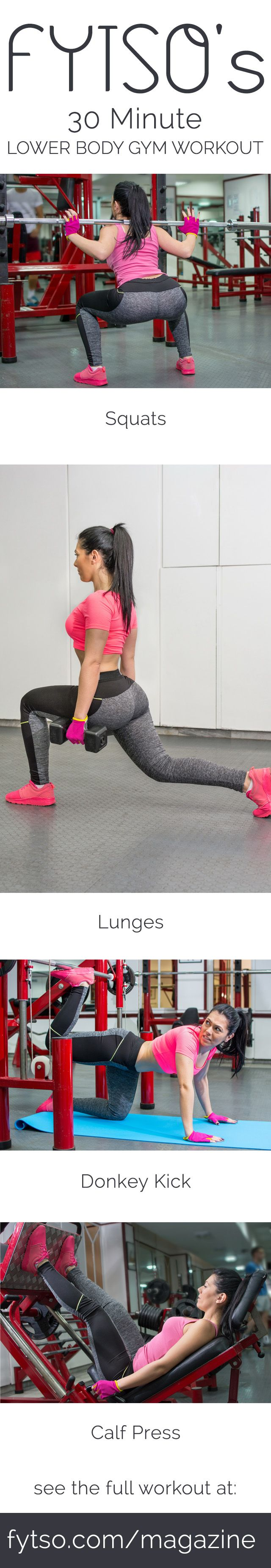 This 30 minute workout will get you in and out of the gym in half an hour while offering a significant workout.