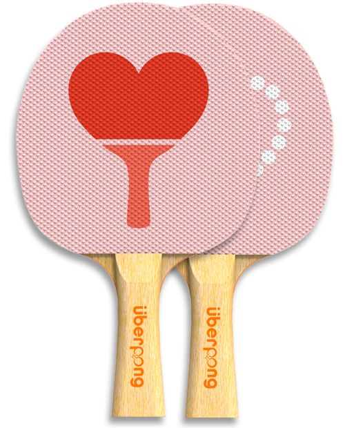ping pong paddle Valentine's Day design for @Uberpong by Viktor Hertz Uberpong - Paddle Love, $29.99 (http://www.uberpong.com/paddle-love/)
