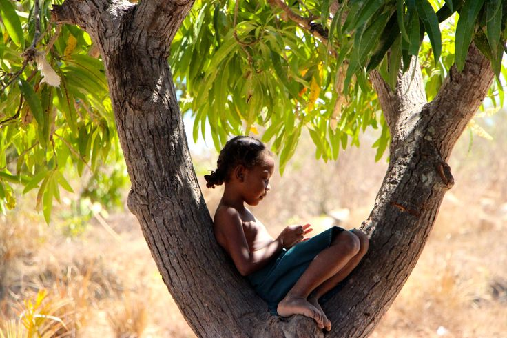 Child in the wood. Majunga, Magascar. Photography by Nolwenn Guilbert. www.travelinmadagascar.com