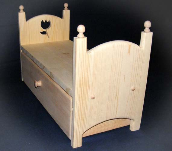 Stackable Trundle Doll Bed Drawer Storage Tulip Flower Cut Out 18 American Girl Doll Furniture via Etsy