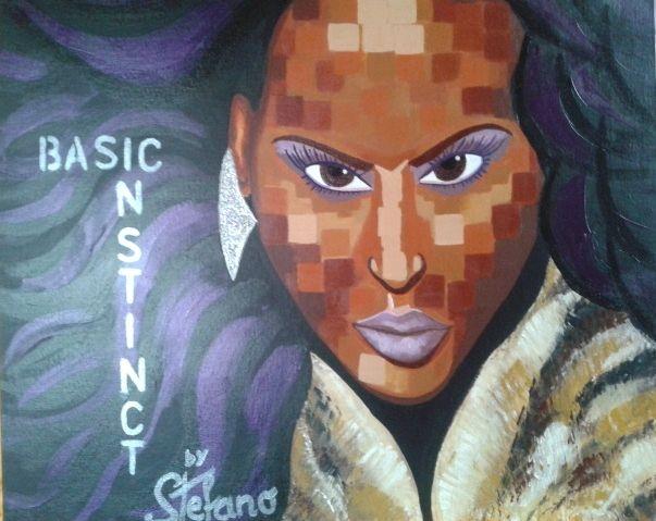 Basic instinct by STEFANO acrylic on canvas fashion art 2014 portrait,paint,painter,painting,moderpainting,art fineart,acrylic,fashion,fashionart