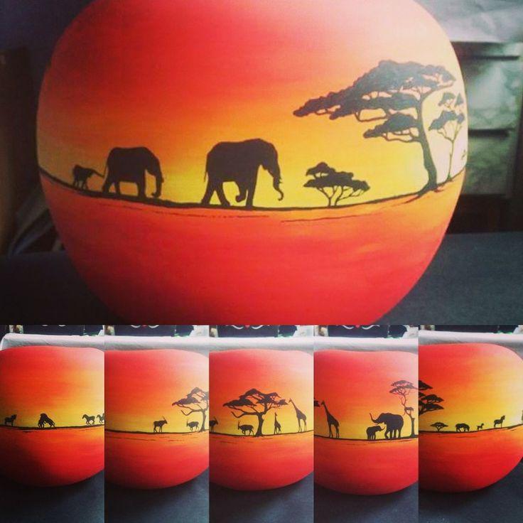 #africa #alma #apple #painting #sun #elephant