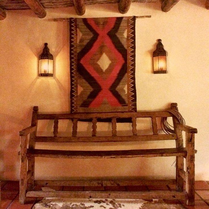 Navajo weaving on wall