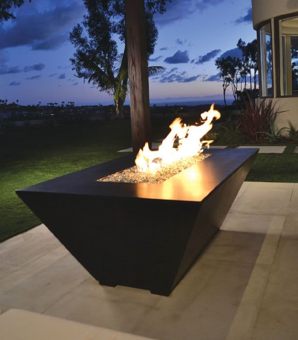 This Contemporary Style Fire Table Looks Great In Any Landscape