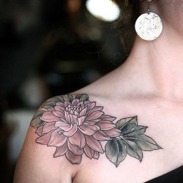 Image result for dahlia flower tattoo