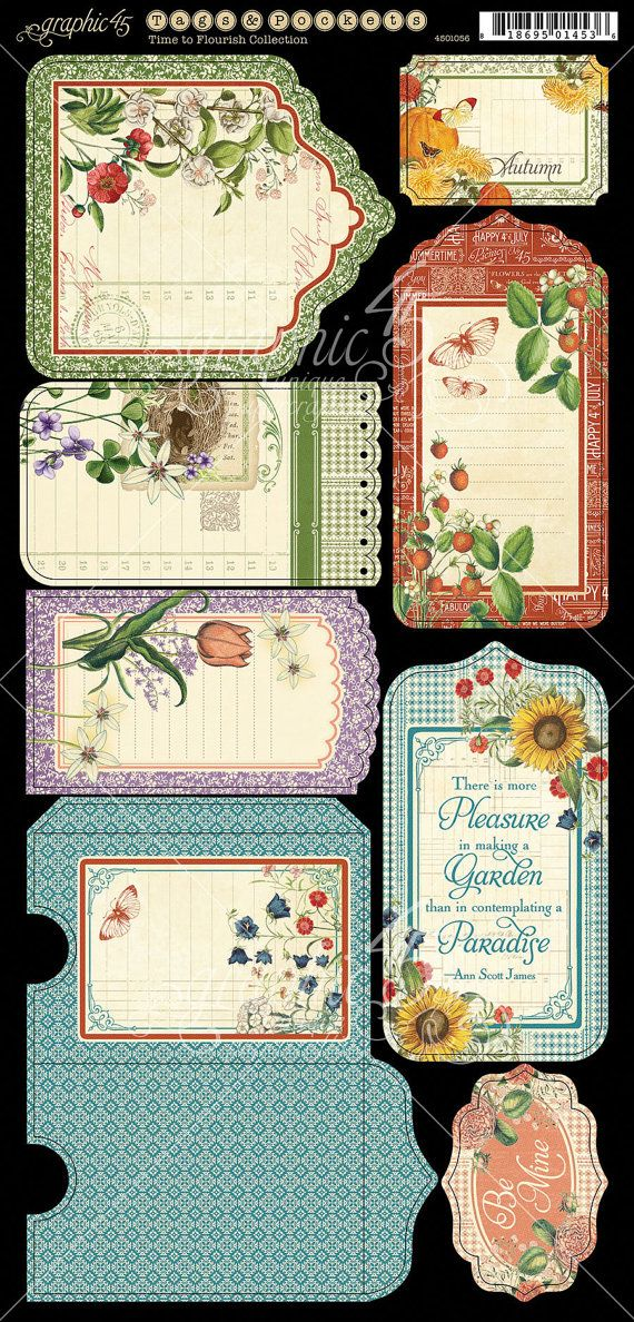 Graphic 45 TIME to FLOURISH Collection by SeptemberPlayground