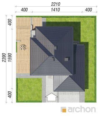 Вилла Элиза Проект ARCHON+ планы, разрез, Дома с гаражом на 2 машины