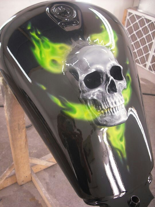 Molded skull I did on a motorcycle tank