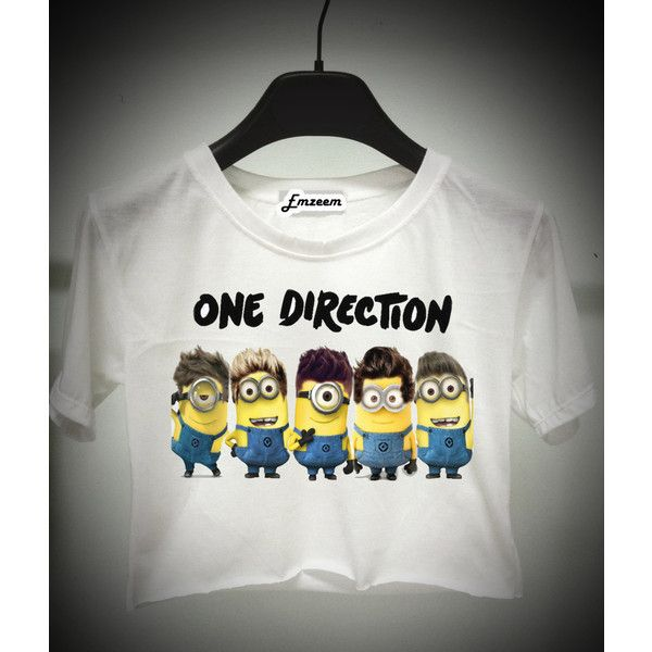 Minion one direction ($13) ❤ liked on Polyvore featuring tops, shirts, one direction and blusas