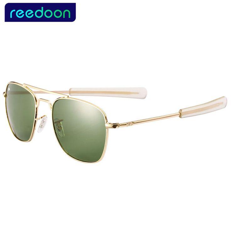 2016 New Army MILITARY AO Sunglasses men women American Optical Glass Lenes Alloy Frame Quality Sunglasses Oculos De Sol AO8054