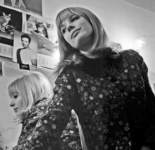 """faithfullforever: """" Rare photos of Marianne Faithfull backstage (with guitarist Jon Mark in the bottom photo) at the Olympia in Paris by Michael Lawrence 
