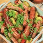 Hemgjord ketchup med korv- och grönsakslåda - Recept - Mitt Kök