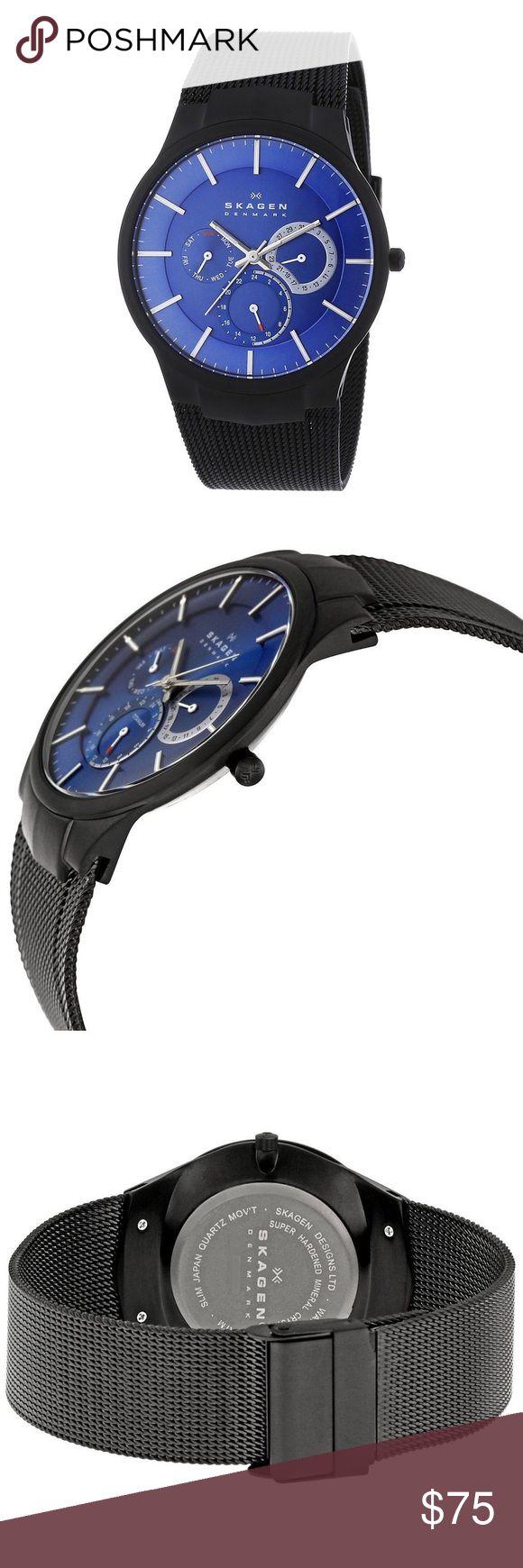 Skagen Titanium Multifunction BlackMesh Mens Watch Good Condition Skagen Accessories Watches