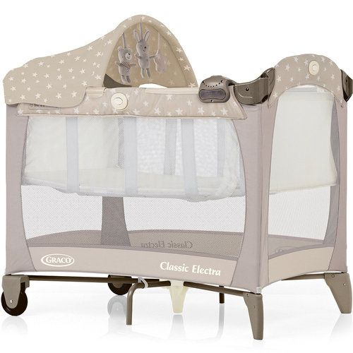 Graco Classic Electra Bassinet Travel Cot in Bear & Friends