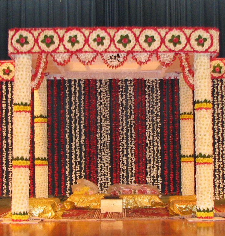 flower Square mandap