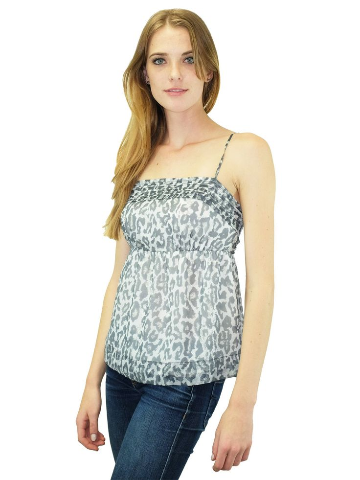 Relished Notting Hill Grey Leopard Top