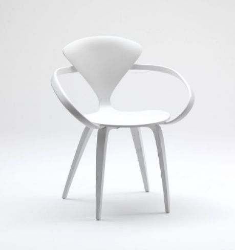 Office chair / organic design / bentwood / lacquered wood 1958 : WHITE LACQUER Cherner