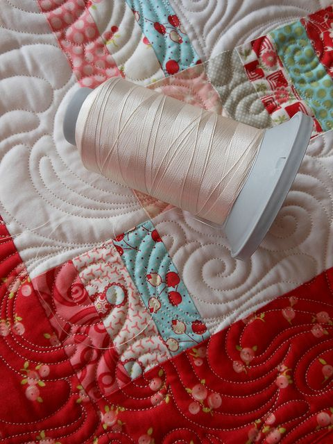 How I choose my thread for allover quilting....