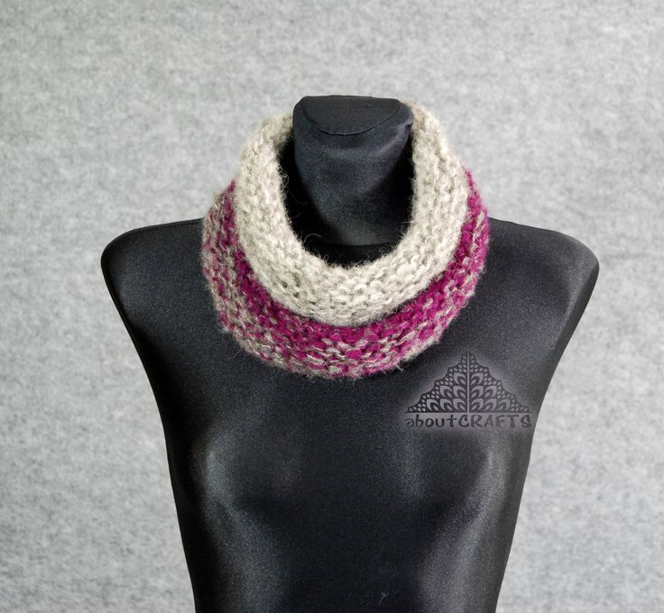 Knitted cowl scarf, Neckwarmer scarf, Adult, Woman, Hand Knit Cowl, Knitted Cowl, Cowl Scarf, Knitted Neckwarmer, Gift for her, Friend gift by aboutCRAFTS on Etsy