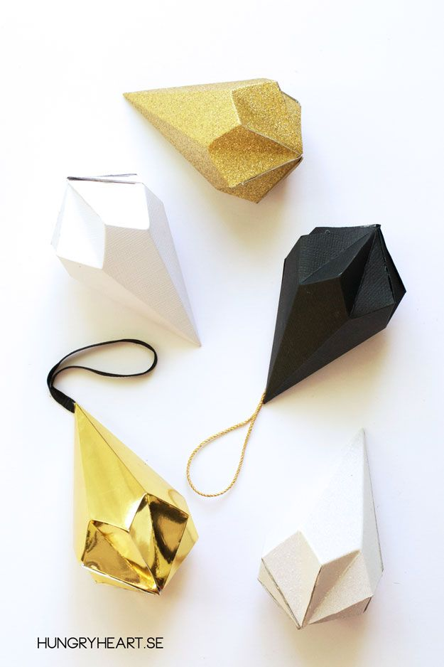 DIY Paper Crystals with FREE Template