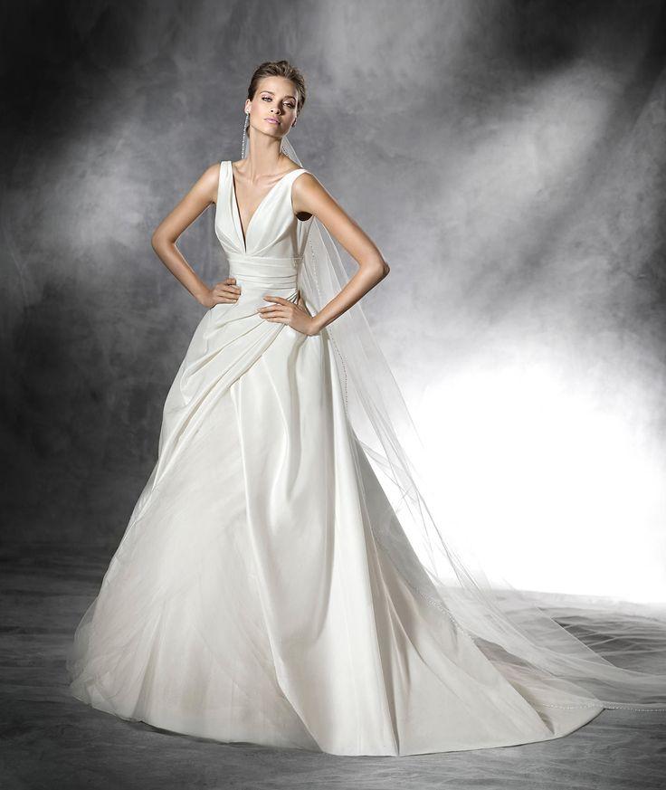 PLUS Original wedding dress with v neck