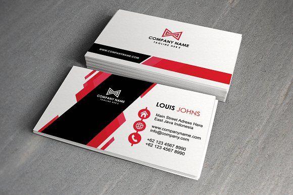 Modern Creative Business Card By Hanief Studio On Creativemarket Modern Creative Ar Business Cards Creative Business Card Minimalist Unique Business Cards