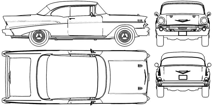 1957 chevy bel air drawings