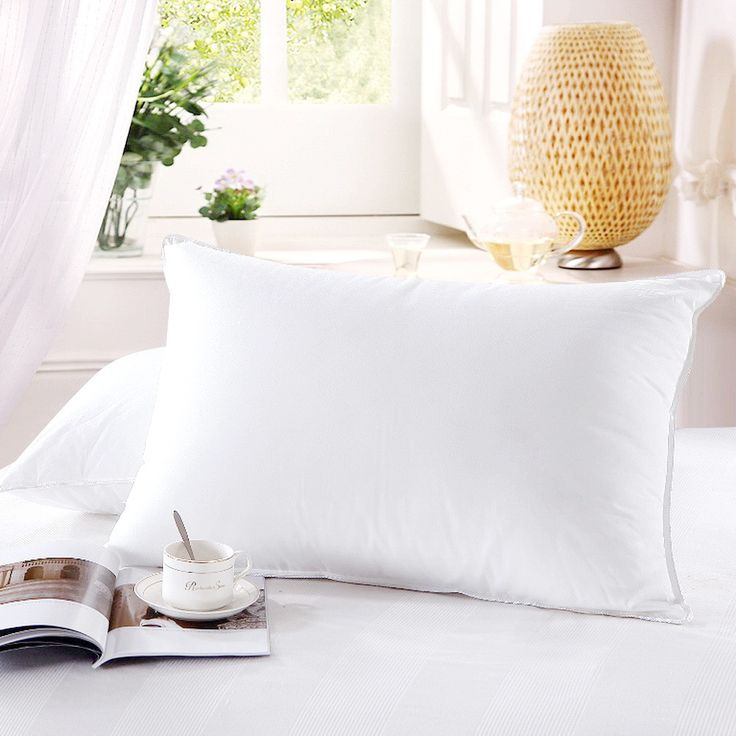 500 tc white goose down firmed bed pillow