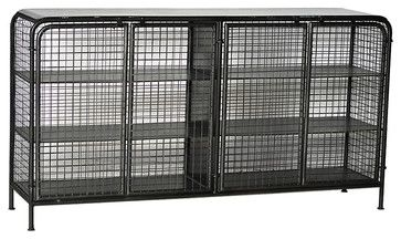 Stafford Metal Sideboard, Stainless Steel - industrial - Buffets And Sideboards - SmartFurniture