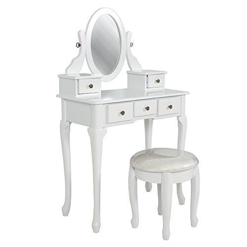 Best Choice Products is proud to present our brand new bathroom vanity table set. This stylish contemporary vanity table comes with swivel adjustable mirrors and 5 storage drawers. It's great for storing all your jewelry and smooth tabletop provides space for cosmetics and beauty supplies.... more details available at https://furniture.bestselleroutlets.com/bathroom-furniture/bathroom-sets/product-review-for-best-choice-products-bathroom-vanity-table-set-jewelry-makeup-d