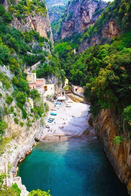 Secluded Beach, Furore, Amalfi, Italy