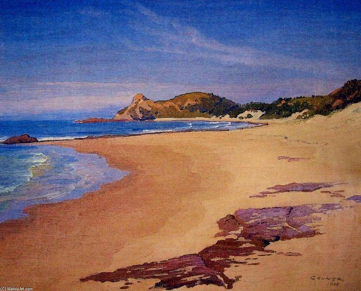Scène de plage - (2) de Elioth Gruner (1882-1939, New Zealand)