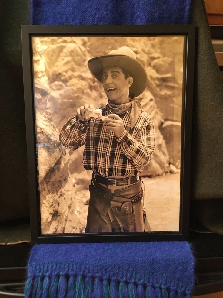 WHOOPEE Eddie Cantor Goes West - Large Format Photo Print - Roll Your Own - Ten Gallon Stetson Hat - Six Shooter - Florenz Ziegfeld