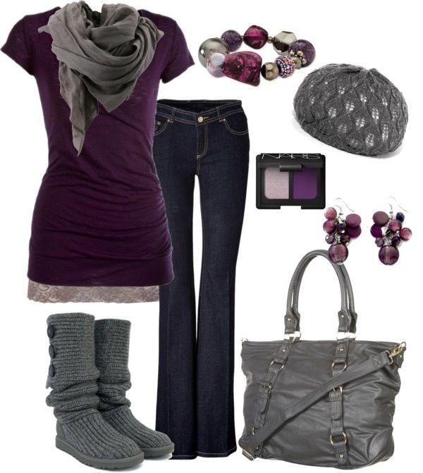Purple and gray very cute