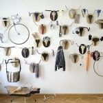 similar to Pablo Picassos tete de taureau. Hunting Trophies: Repurposed Vintage Bike Parts Converted into Functional Taxidermy Racks