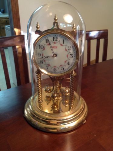 Vintage Welby 400 Day Anniversary Clock - Glass Dome - Germany for USD45.00 #Collectibles #Clocks #Vintage #Anniversary Like the Vintage Welby 400 Day Anniversary Clock - Glass Dome - Germany? Get it at USD45.00!