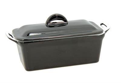 Terrine à foie gras noir avec presse 24 x 10 cm – noel – 2940455 – Reception