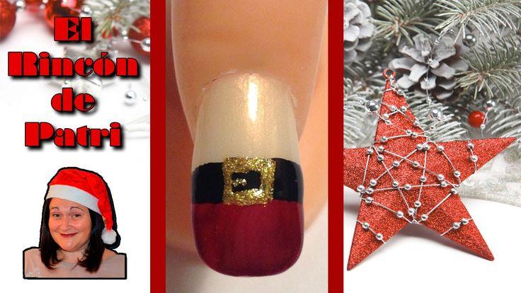 Diseño de uñas de traje de Papa Noel de El rincón de Patri Nail Art. Sigue todos nuestros diseños de decoración de uñas en http://www.rincondepatri.com Father Christmas suit Nail Art