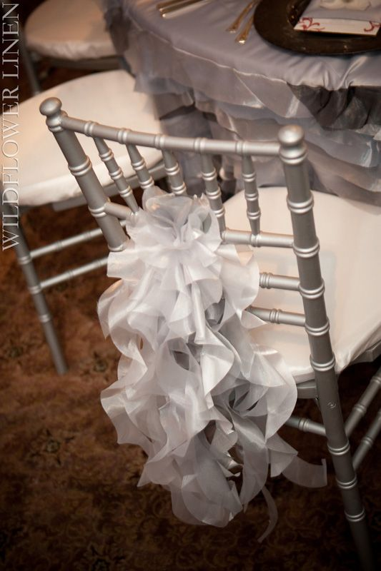 Wedding Party Chair Covers & Decor   # Silver Wedding ... Wedding ideas for brides, grooms, parents & planners ... https://itunes.apple.com/us/app/the-gold-wedding-planner/id498112599?ls=1=8 … plus how to organise an entire wedding ♥ The Gold Wedding Planner iPhone App ♥