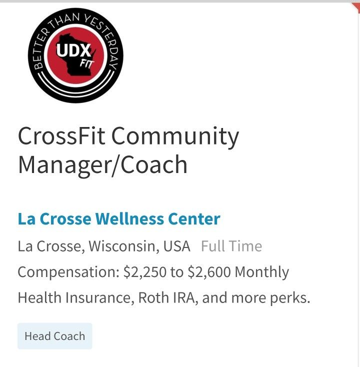 Crossfit Coach Needed Crossfit Coach Fitness Jobs Job