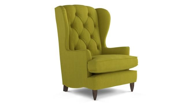 Berkeley Armchair Wool Linen Mix - Olive