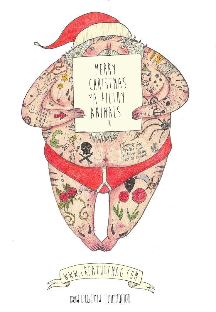 """Festive Freak"" Merry Christmas says David Litchfield"