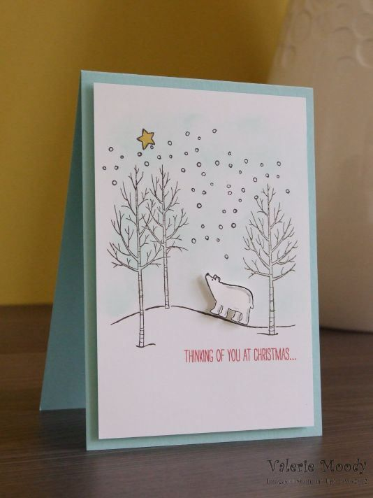 Stampin' Up! - White Christmas - Christmas Cards - Stamping With Val - Valerie Moody; Independent Stampin' Up! Demonstrator. X