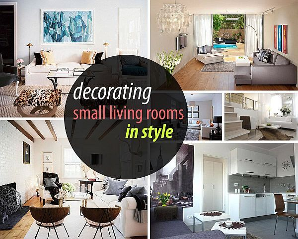 Love the ideas on how to decorate a small living room. Perfect ideas for the new apt
