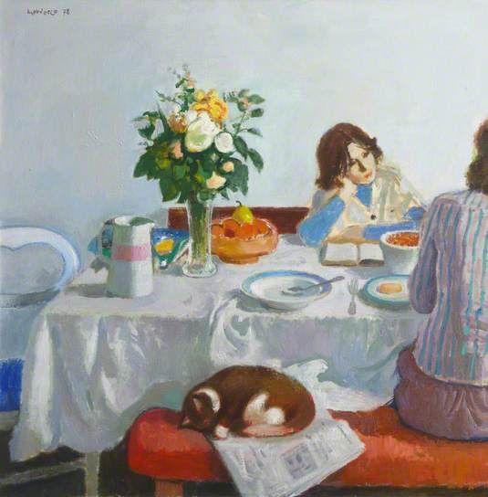 Alberto Morrocco (1917-1998) - Breakfast, 1978