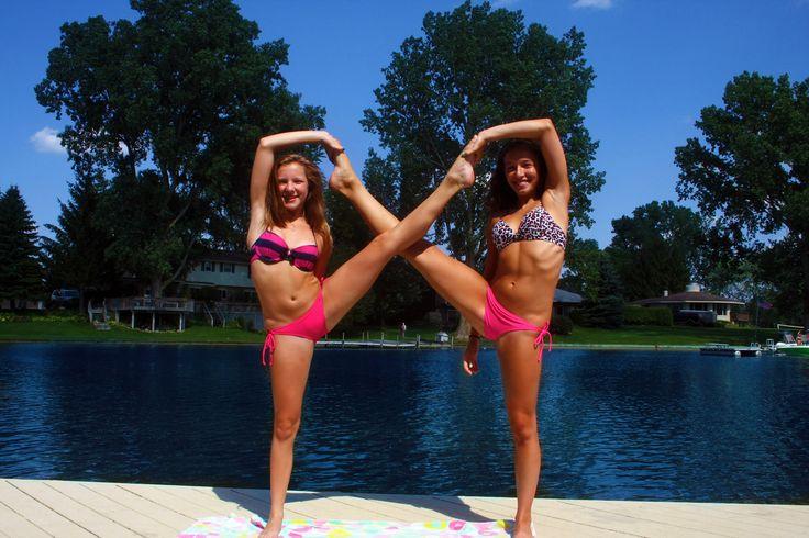CHEER stunt water bikini cute stretch swimsuit cheerleaders moved from @Kythoni main Cheerleading board http://www.pinterest.com/kythoni/cheerleading/ #KyFun