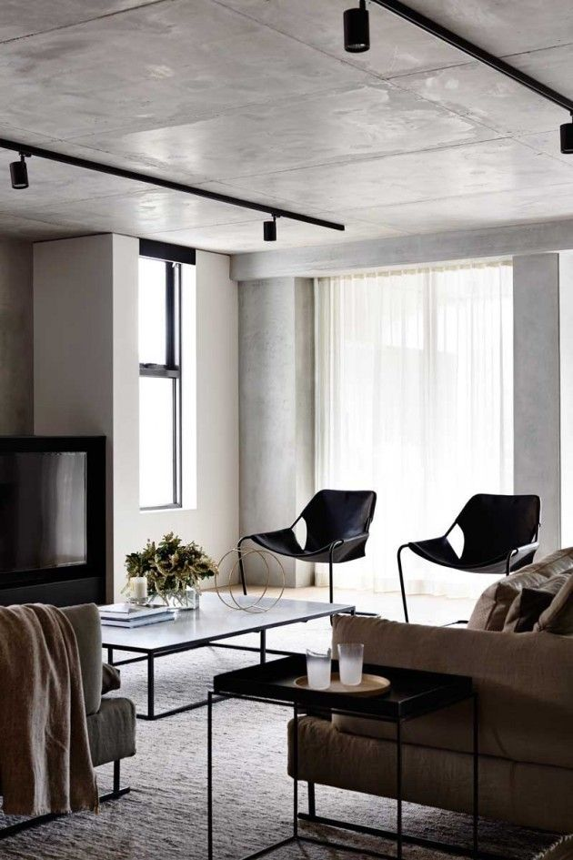 living room track lighting%0A     Walsh Street by Carr Design Group  MAA Architects and Neometro    Black Track  LightingContemporary